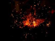 Fuochi d'artificio di saldatura fotografia stock libera da diritti