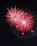 Fuochi d'artificio di scoppio doppi immagini stock libere da diritti