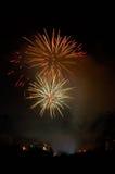 Fuochi d'artificio di sera Fotografie Stock Libere da Diritti