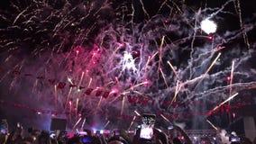 Fuochi d'artificio di Smirne, Turchia archivi video