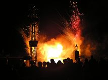 Fuochi d'artificio di sorveglianza immagine stock