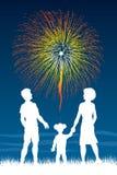 Fuochi d'artificio di sorveglianza levantesi in piedi Immagini Stock Libere da Diritti