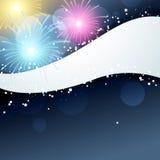 Fuochi d'artificio di vettore Immagini Stock