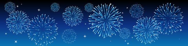 Fuochi d'artificio di vettore Immagini Stock Libere da Diritti