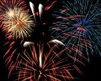 Fuochi d'artificio di Winterfest fotografie stock