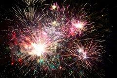 Fuochi d'artificio diesplay Fotografia Stock