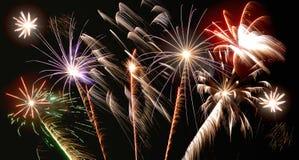 Fuochi d'artificio differenti fotografia stock libera da diritti