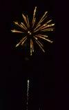 Fuochi d'artificio dorati immagine stock libera da diritti