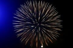 Fuochi d'artificio dorati Fotografia Stock