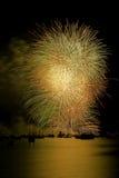Fuochi d'artificio dorati, Vancouver BC Fotografia Stock