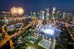 Fuochi d'artificio durante il giorno nazionale Fotografie Stock Libere da Diritti
