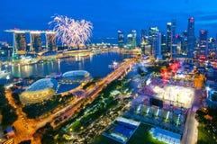 Fuochi d'artificio durante il giorno nazionale! Fotografie Stock