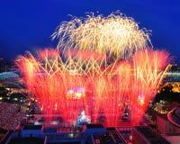 Fuochi d'artificio durante il NDP 2010 Immagine Stock Libera da Diritti