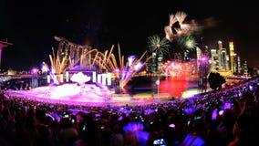 Fuochi d'artificio durante il NDP 2012 Fotografia Stock Libera da Diritti