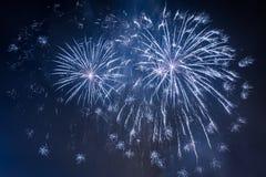 Fuochi d'artificio durante l'evento di celebrazioni immagine stock