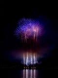 Fuochi d'artificio durante la celebrazione di luce, Vancouver Immagine Stock Libera da Diritti