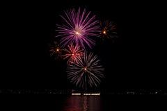 Fuochi d'artificio durante la celebrazione di luce, Vancouver Fotografie Stock