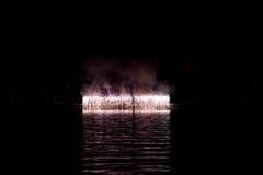 Fuochi d'artificio durante la celebrazione di luce, Vancouver Fotografia Stock