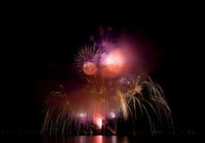 Fuochi d'artificio durante la celebrazione di luce, Vancouver Fotografia Stock Libera da Diritti