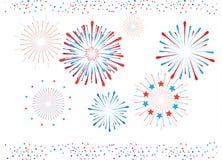 Fuochi d'artificio e coriandoli isolati royalty illustrazione gratis
