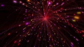 Fuochi d'artificio e fondo animato stock footage