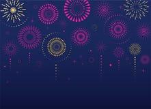 Fuochi d'artificio e fondo di celebrazione, vincitore, manifesto di vittoria royalty illustrazione gratis