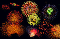 Fuochi d'artificio eccezionali Fotografia Stock Libera da Diritti