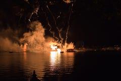 Fuochi d'artificio a Epcot a Walt Disney World Fotografia Stock Libera da Diritti