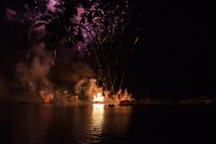 Fuochi d'artificio a Epcot a Walt Disney World Immagine Stock Libera da Diritti