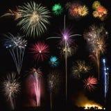 Fuochi d'artificio (per ritaglio) Fotografia Stock