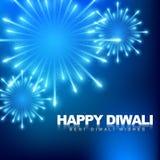 Fuochi d'artificio felici di diwali