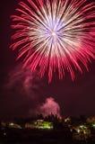 Fuochi d'artificio a Fiesole Immagini Stock