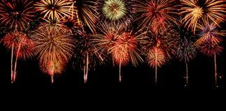 Fuochi d'artificio Fondo di anniversario e di celebrazione Fotografia Stock