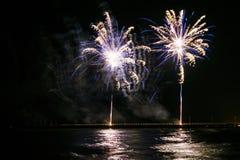 Fuochi d'artificio in Forte dei Marmi Fotografia Stock