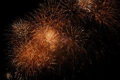 Fuochi d'artificio gialli Fotografia Stock Libera da Diritti
