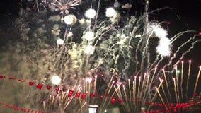 Fuochi d'artificio, giorno di salvezza, Smirne, Turchia stock footage