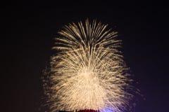 Fuochi d'artificio a Hanoi Fotografie Stock