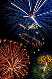 Fuochi d'artificio, il 4 luglio, festa dell'indipendenza Fotografia Stock