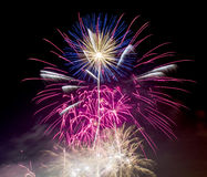 Fuochi d'artificio il 5 novembre Guy Fawkes Night Fotografia Stock Libera da Diritti