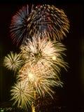 Fuochi d'artificio il quarto luglio Fotografia Stock