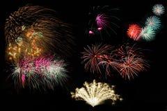 Fuochi d'artificio impostati Fotografia Stock