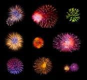 Fuochi d'artificio impostati Immagini Stock