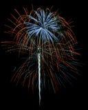 Fuochi d'artificio isolati Fotografia Stock Libera da Diritti