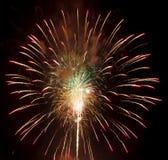 Fuochi d'artificio isolati su un fondo nero Fotografia Stock Libera da Diritti