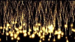 fuochi d'artificio 4k nel fondo di fase di esplosione, contesto astratto della bomba della particella royalty illustrazione gratis