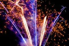Fuochi d'artificio luminosi Immagini Stock Libere da Diritti