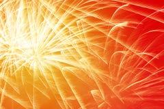 Fuochi d'artificio luminosi del nuovo anno Fotografia Stock Libera da Diritti
