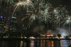 Fuochi d'artificio a Melbourne Fotografia Stock