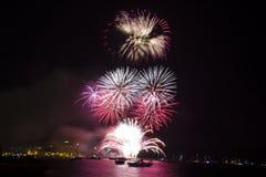 Fuochi d'artificio meravigliosi Fotografia Stock