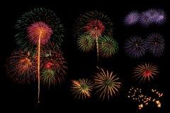 Fuochi d'artificio messi Fotografie Stock